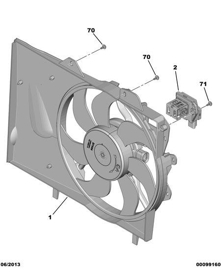 标致,冷却风扇电控盒,yl 005 155 80 - yiparts